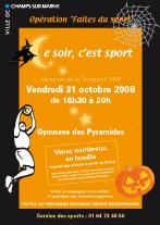 """Opération """"Faites du sport"""" sur le thème d'Halloween"""
