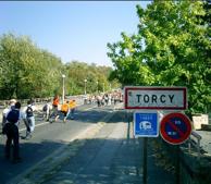 Randonnée en roller, départ de Torcy