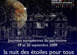 """Journées du patrimoine, """"La nuit des étoiles"""" au château de Champs-sur-Marne"""