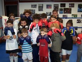 Accueil d'enfants handicapés au club de boxe française